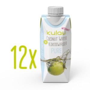 12x KULAU Bio-Kokoswasser PURE 330 ml