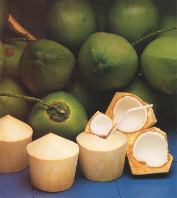 vergleich grün geschält kokosnüsse