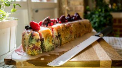 Kokos-Beeren-Kuchen