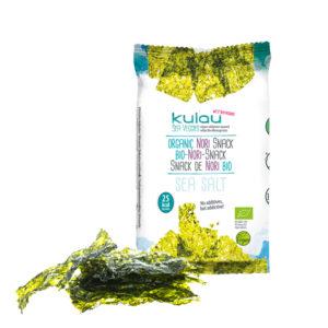 Die Packung des KULAU Bio-Nori-Snacks.