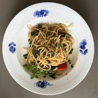 Vegane Spaghetti Vongole  – Josefines Lieblingsgericht mit Algen