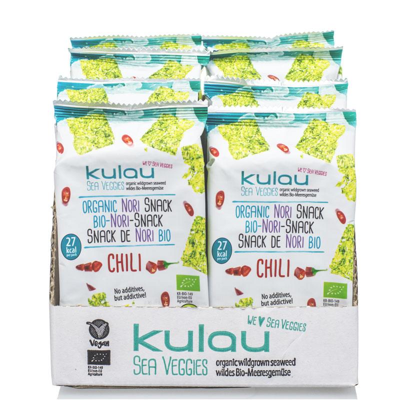 Produktfoto von 8 x KULAU Bio-Nori Snack Sea Salt 4 g