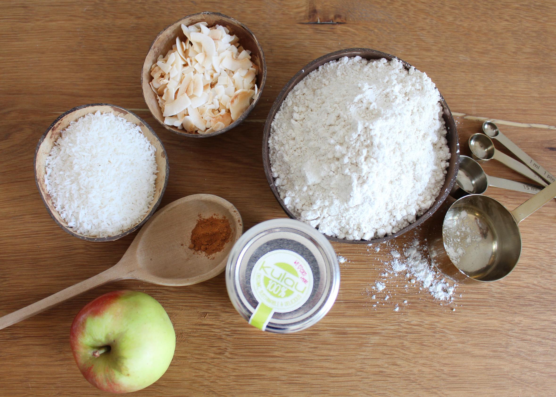 Zutaten für den Kokoskuchen