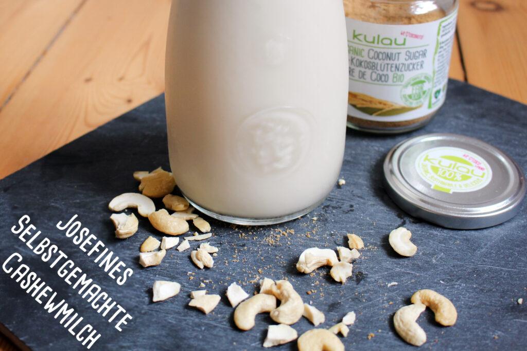 Josefines selbstgemachte Cashewmilch