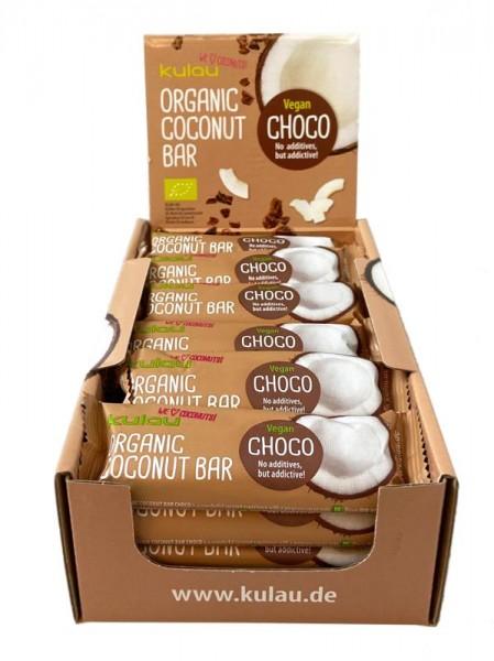 24 x KULAU Bio-Kokosriegel CHOCO 40 g