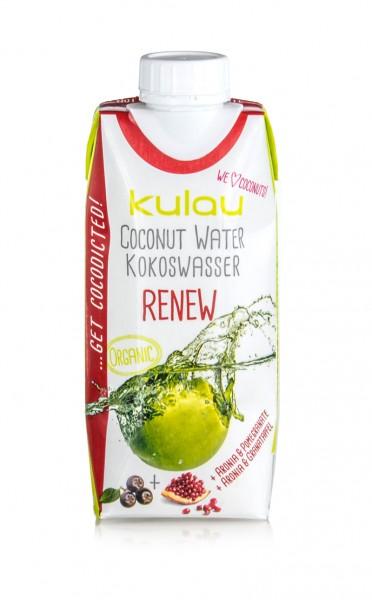 KULAU Bio-Kokoswasser RENEW 330 ml; (MHD 08.10.2019)