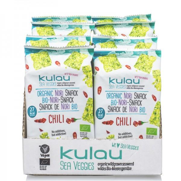 8x KULAU Bio-Nori-Snack Chili 4 g