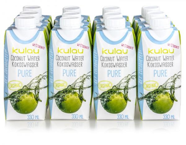 12 x KULAU Bio-Kokoswasser PURE 330 ml