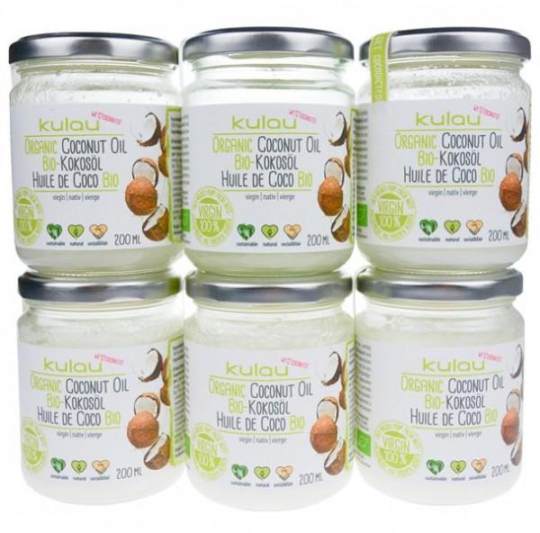 6× KULAU Bio-Kokosöl 200 ml