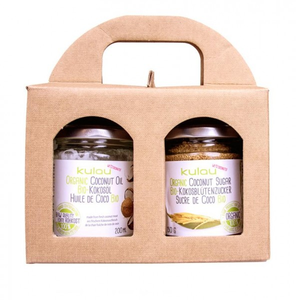 Duo Geschenkset KULAU Bio-Kokosöl & Bio-Kokosblütenzucker