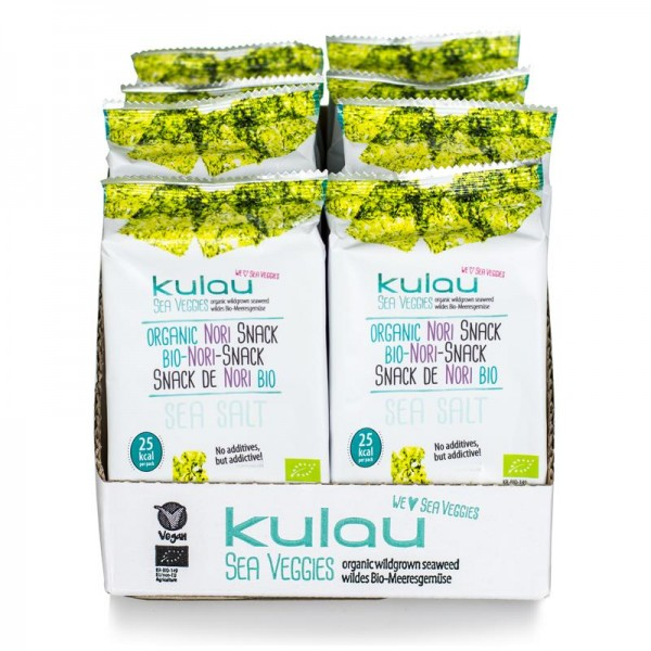 8x KULAU Bio-Nori-Snack Sea Salt 4 g